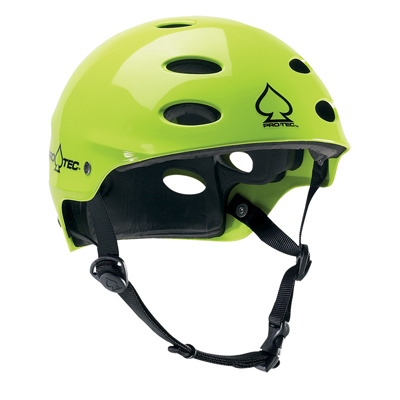 ACE WATER RENTAL HELMET GLOSS NEON YELLOW - XXLARGE (62-64CM) PRO TEC 2018