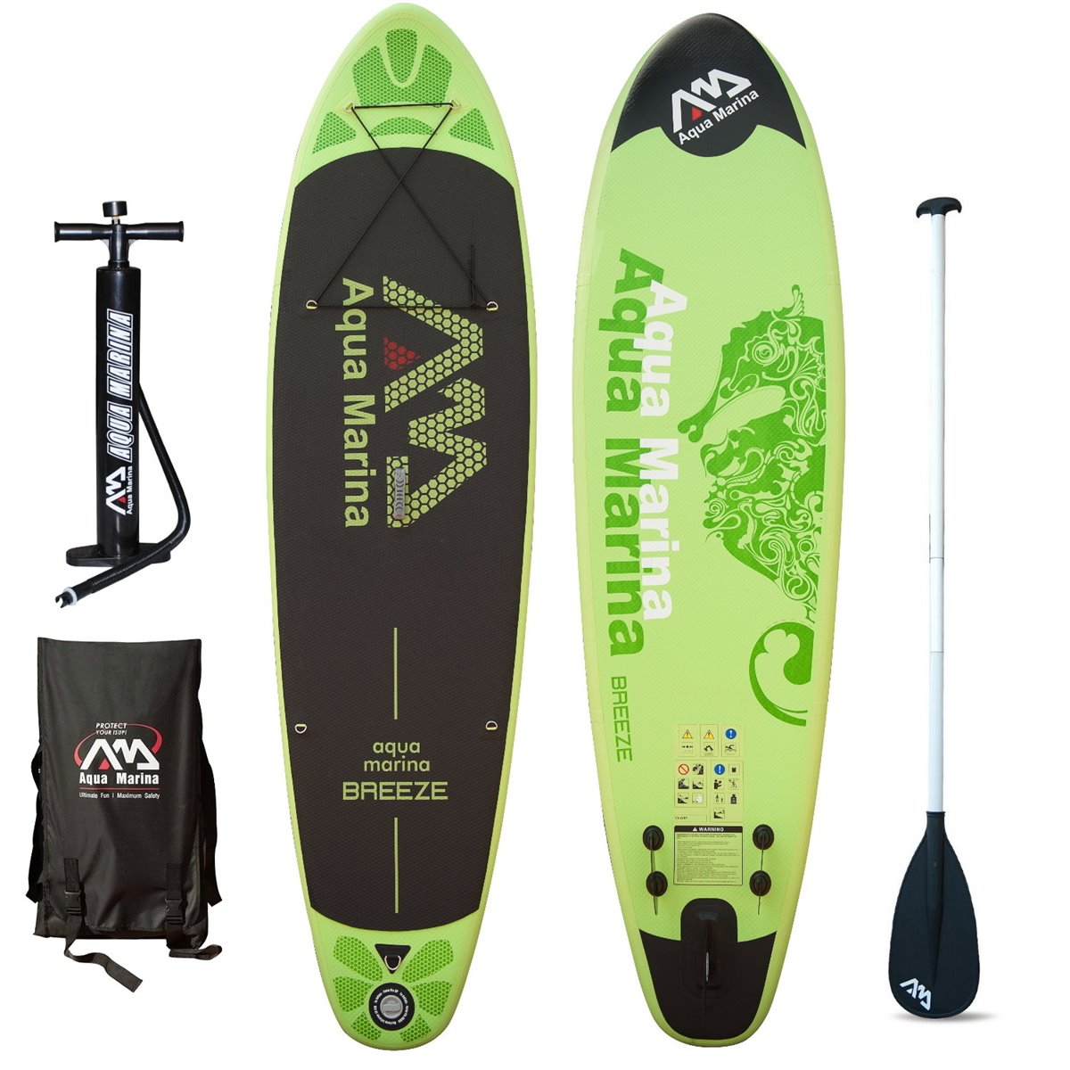 BREEZE INFLATABLE SUP BOARD PACKAGE W/PADDLE AQUA MARINA 2017