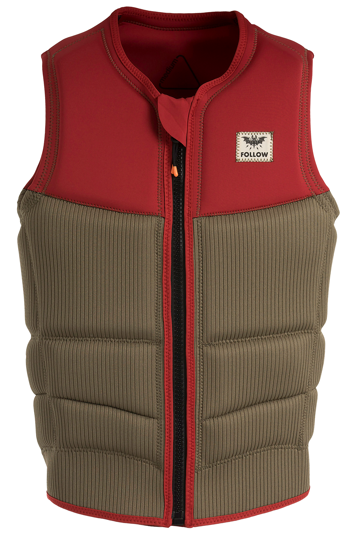 MITCH PRO IMPACT VEST - DUSTY RED FOLLOW 2019