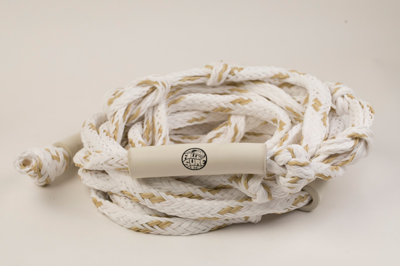 THE BASIC 24FT SURF ROPE - WHITE FOLLOW 2019