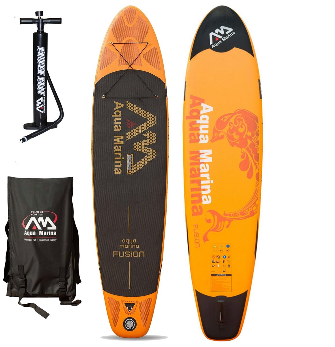 FUSION INFLATABLE SUP BOARD PACKAGE AQUA MARINA 2017
