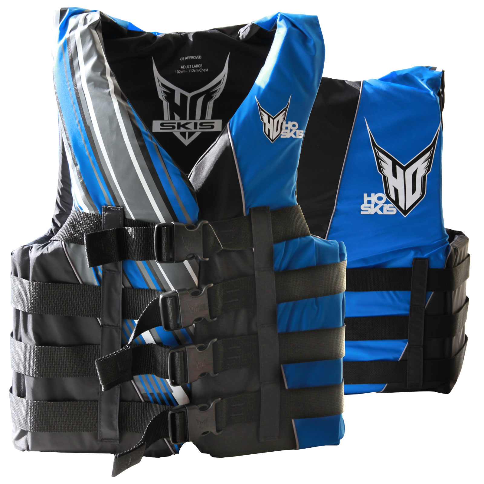 MENS 4-BUCKLE VEST BLACK/BLUE HO SPORTS 2017