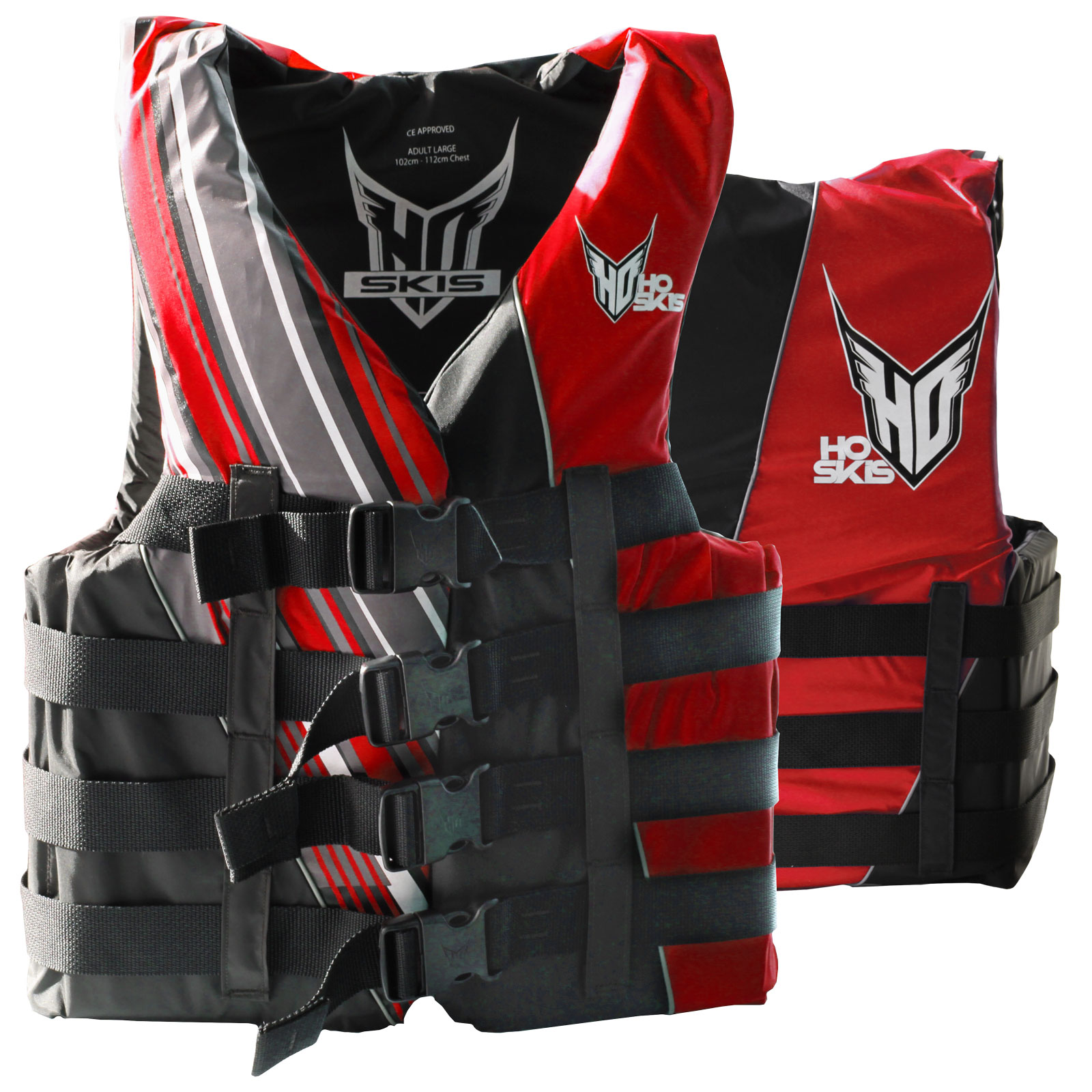 MENS 4-BUCKLE VEST BLACK/RED HO SPORTS 2018