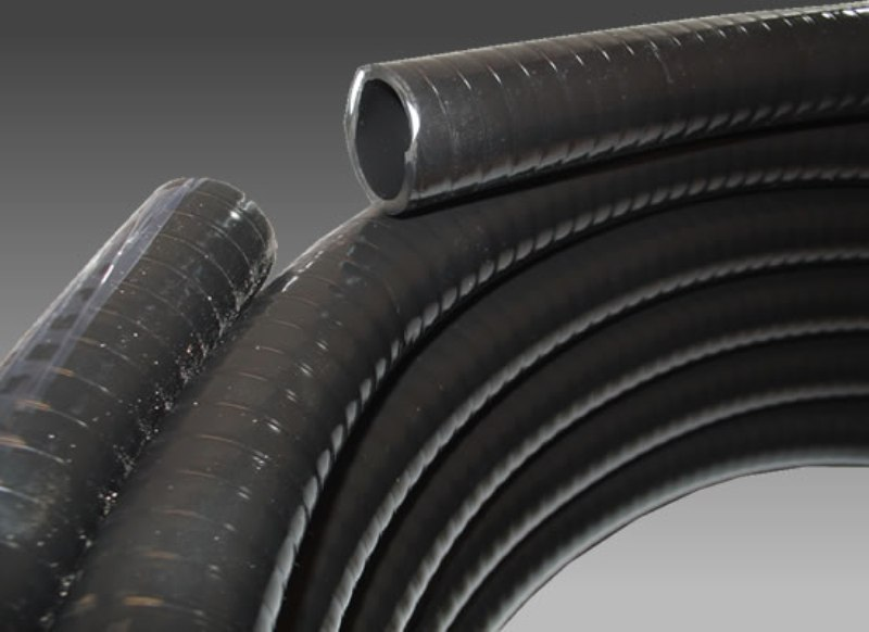 BLACK REINFORCED BALLAST HOSE (PRICED PER FOOT) 1'' AND  1 1/8'' FATSAC 2018