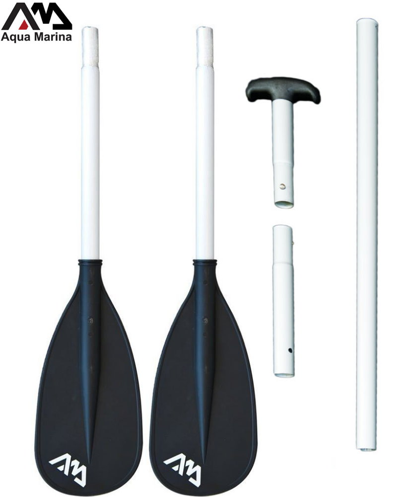 DUAL-TECH 2-IN-1 ALUMINUM ISUP & KAYAK PADDLE (3-4 SECTIONS) AQUA MARINA 2017