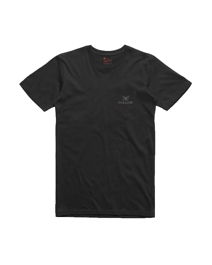POCKET TEE - BLACK FOLLOW 2019