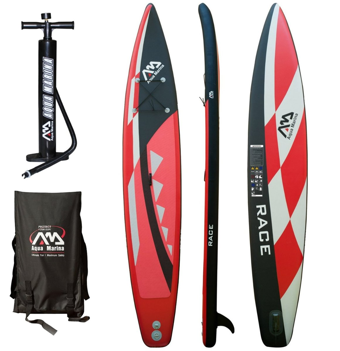 RACE INFLATABLE SUP BOARD PACKAGE AQUA MARINA 2017