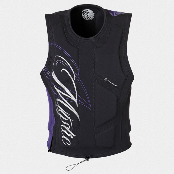 STAR WAKEBOARD VEST ZIP WOMEN L BLACK MYSTIC 2018